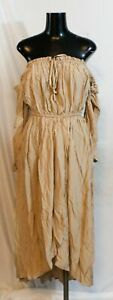 Oh Hello Women#x27;s Sleeveless Satin Wrap Dress NB7 Brown Size 8 NWT