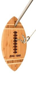 TIKI TOSS Hook and Ring Toss Game Deluxe Football Edition Indoor Outdoor $39.99