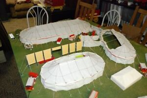 Circus Tent Set all 4 tents White complete ready to setup HO Scale