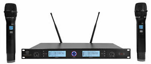 Rockville RWM3300UA UHF Dual HandHeld Microphones For Church Sound Systems $134.95