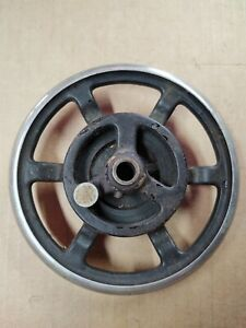 FF Spoked Cast Iron Hand Sewing Hand Wheel Free Ship Steampunk Art $22.00