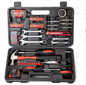 Cartman 148 Piece Full Tool Set with Plastic Toolbox Storage Case $43.99