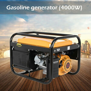 Gas Powered Portable Generator Engine For Jobsite RV Camping Standby 4000 Watt