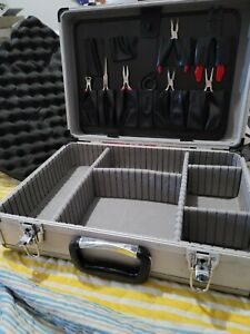 Electricians Aluminum Tool Storage Organizer Case Portable Box w Tools Pre Owned $79.99