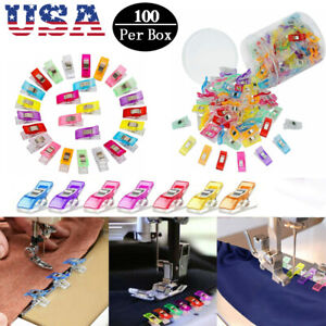 100Pcs Magic Wonder Clips For Fabric Craft DIY Quilting Knitting Sewing Crochet $8.54