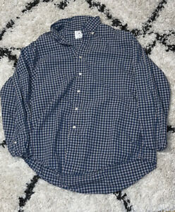 Brooks Brothers Sport Shirt All Cotton Blue white Plaid Button Down Medium $15.00