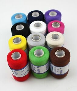 Lot 12 Spools Sewing Thread 100% Polyester Assorted Colors Quality All Purpose $11.75