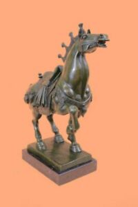 Large Tang Horse by Barye Art Deco Modern Bronze Sculpture Marble Figurine Gift $349.00