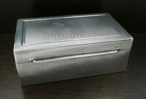 Antique Art Deco EMIL BRENK Germany Sterling Silver amp; Wood Box Inkwell ? $189.00