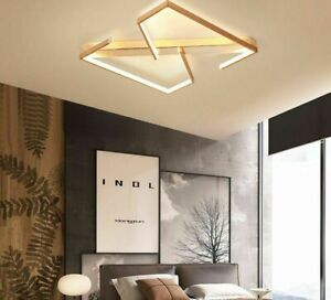 LED Gold Ceiling Light Aluminum Nordic Lamp Creative Square Iron Surface Mounted $199.99