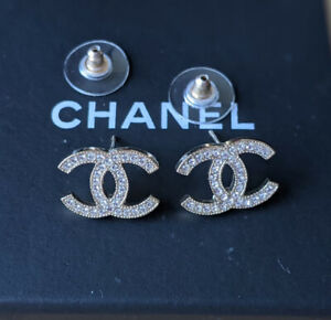 Authentic Chanel CC Crystal Moscova Earrings $850.00