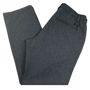 Under Armour Golf Pants Mens 36 32 Dark Gray Stretch Waist $21.99