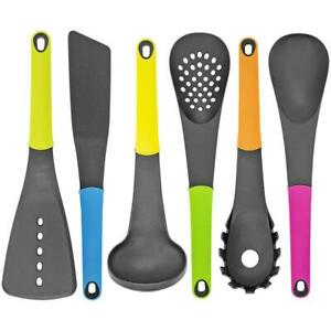 Southern Homewares Kitchen Pieces Food Prep Cooking Utensil Multi Color Set Of 7