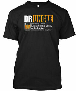 Mens Drunkle Funny Drinking Uncle Tee T Shirt Cotton Crew neck