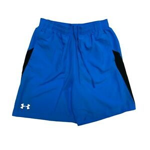 Under Armour shorts youth boys sportwear blue size MD M $13.78