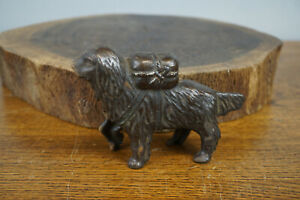 Antique St. Bernard Cast Iron Coin Dog Still Bank 8quot; Long $15.00