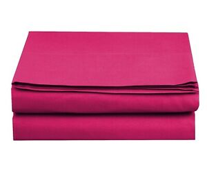 1500 Thread Count Single Fitted and Flat Sheet Available in 10 Colors All Size