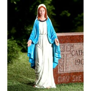 Virgin Mary Blessed Mother Religious Garden Lawn Outdoor Statue Sculpture 19#x27;#x27;H