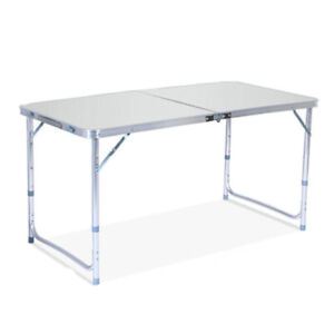4ft Foldable Table Height Adjustable Multipurpose Rectangle Table w Carry Handle