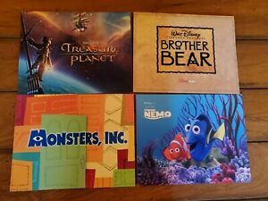 Disney Lithographs Monsters Inc Finding Nemo Brother Bear amp; Treasure Planet $49.99