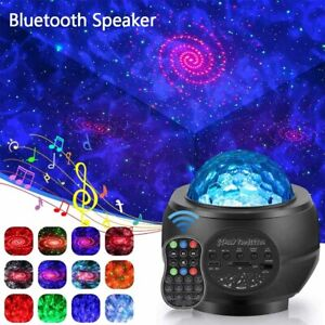 Bluetooth LED Galaxy Starry Sky Night Light Projector Star Moon Party Speaker