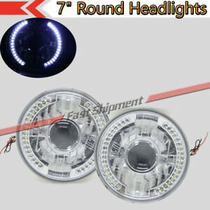7quot;Round Chrome Glass Lens LED Leftamp;Right Projector Headlights H4 H6015 H6024 V1 $40.68