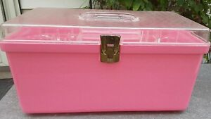 Vintage 70s Pink Wil hold Sewing Box $17.00
