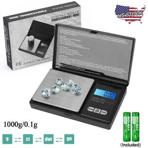 LCD Digital Scale 1000g x 0.1g Jewelry Gold Silver Coin Gram Pocket Size Grain