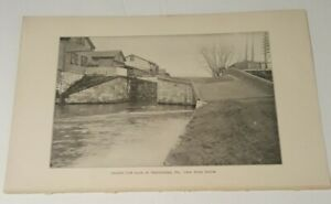 1899 RR book photo DOUBLE LIFT LOCK Harrisburg Pennsylvania Canal from below $12.00