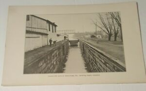 1899 empty chamber DOUBLE LIFT LOCK Harrisburg Pennsylvania Canal RR book photo $12.00