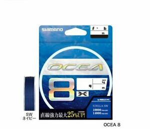 PE Line for Lure Fishing Shimano LD A71S OCEA 8 300m #5.0 SW Navy