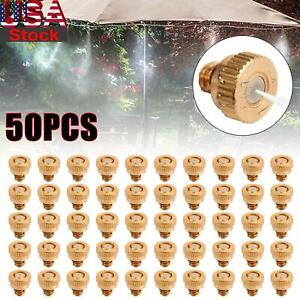 Brass Misting Nozzles Water Mister Sprinkle For Cooling System 0.012quot; UA
