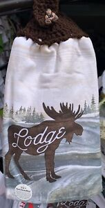 Moose Lodge Double thick crochet top towel By laura