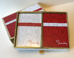 Vintage Givenchy Designer Congress Playing Cards Moire Ribbon 1970s $9.95