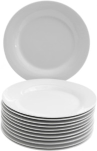 10 Strawberry Street 7.5 Catering Plate Set of 12 SALAD White $29.44