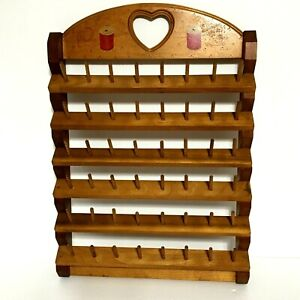 Vintage Wooden Sewing Thread Holder Display. 21quot; X 15quot;. Thread Display tp $69.00