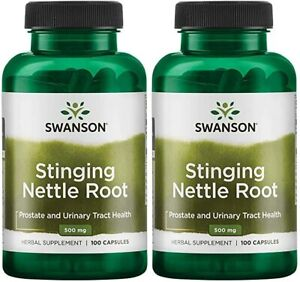 TWO 2 Stinging Nettle Root from Swanson. 200 capsules total 500 mg each $14.75