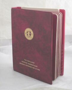 1968 1970 FAO World Coin Album #1 red complete Proof BU 52 Coins some silver $349.99