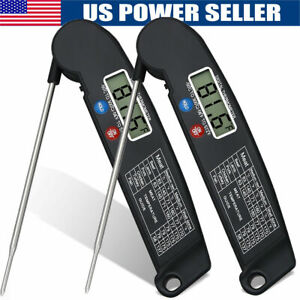 Refrigerator Freezer Thermometer Fridge DIAL Type Stainless Steel Hang Stand USA