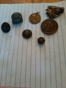 ANTIQUE MILITARY MEDALS amp; BUTTONS $50.00