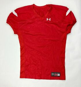 Under Armour Stock Encounter Football Jersey Red White Mens 1292598 $16.50