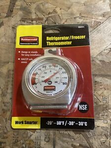 Rubbermaid® Commercial Refrigerator Freezer Thermometer R80DC