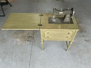 vintage white rotary sewing machine table $150.00