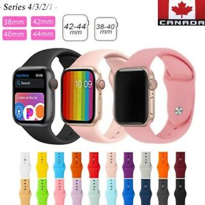 Replacement Watch Sport Silicone Bands for Women Men For iWatch SE 6 5 4 3 2 1 C $7.99