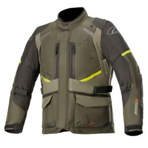 Alpinestars Andes V3 Drystar Forest Military Green Motorcycle Jacket New F... $202.61