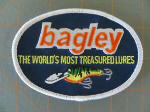 Vintage Mint Fishing Patch Bagley Lures 4 x 3 inch