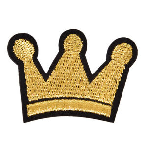 Crown Iron On Patch Sewing On Embroidered Applique Fabric Badge for Jachm C $1.23