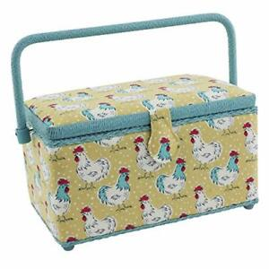 Dritz Sewing Basket Yellow Chickens $50.79