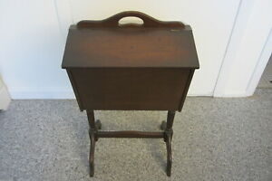 Vintage Wooden Sewing Box LOCAL PICKUP ONLY West Chicago Suburbs $85.00