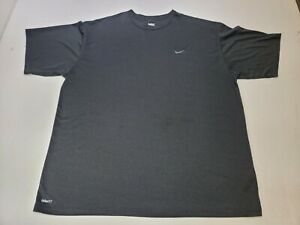 Nike Embroidered Logo Black Short Sleeve Crew Neck Dry Fit Shirt Size XXL 2XL $19.99